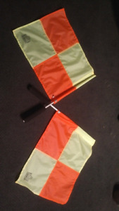 Soccer Referee Jersey (size L) and Linesman's flags