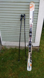 Used Rossignol Experience 78R Skis (166cm) and skiing poles