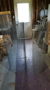 Two Small Pieces Galvanized Fencing