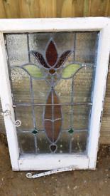 Edwardian stained glass leaded window