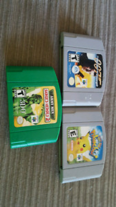 3 N64 games and gameboy and genesis games