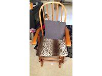 Chiropractic reclining rocking armchair