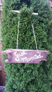 Barnboard Wedding Sign - Just Married