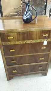 1940's desk and hi boy dresser in great refinished condition.
