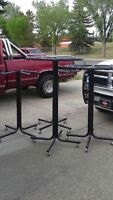 Industrial metal retail racks on wheels