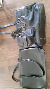 2 Genuine leather Wilsons Leather black bags