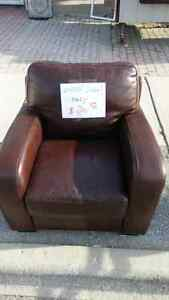 Faux leather chair$20