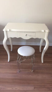 Make up vanity table with stool