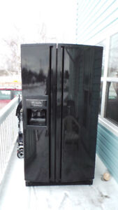 Stove, Fridge and Microwave Fan.....all black
