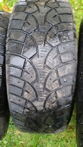 """Set of 4-195/60/15"""" Winter tires,Also Pair of 185/60/16"""" Winters"""