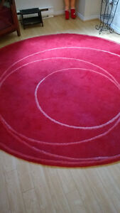 Beau tapis rond