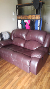 Double Recliner Couch with matching Rocker Recliner