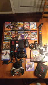 PS2 system with games