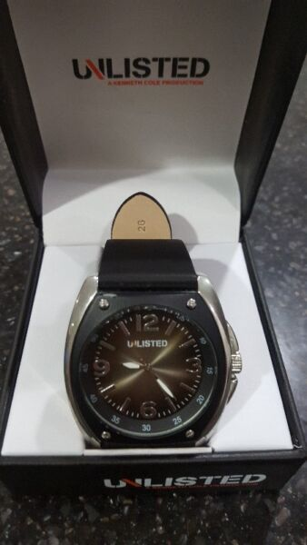 Kenneth Cole Unlisted Men's Stainless Steel Watch Big Block Style Bezel