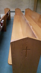 28 OakChurch pews for sale- approximately 55 years old