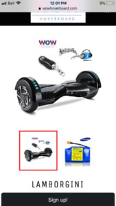 Lamborghini Hoverboard with Bluetooth speakers and lights