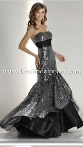 Sequin and Satin Prom Dress!