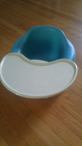 Blue bumbo with tray