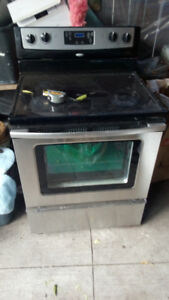 """30"""" Whirlpool electric stove glass top Stainless"""