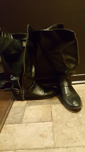 Size 12 Black Tall Boots