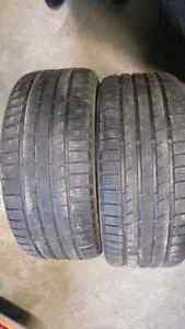 2 winter tires continental 245/40r18