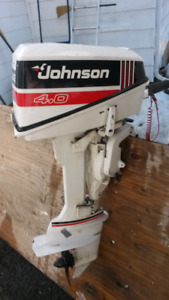 Outboard motor- Johnson 4.0 Deluxe