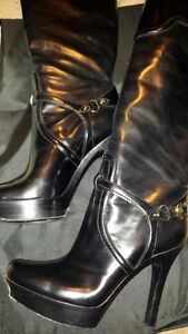 Beautiful Gucci knee-high leather boots