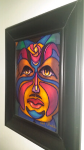 Original Painting by Don Chase Influenced by Norval Morrisseau