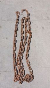 14 foot 3 / 8 inch link logging chain for GM vehicles