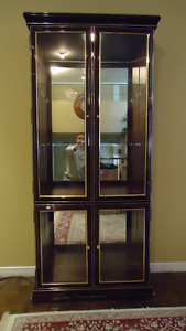 consol + mirror with display cabinet