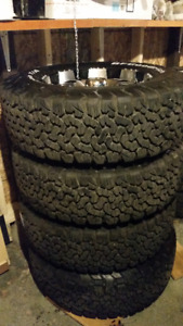 Tires and rims for sale-BF Goodrich all terrain TAs