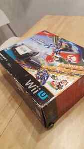 Wii u Deluxe 32gb in Box with 2 games and accessories