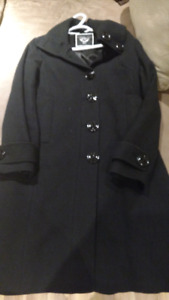 Wool black winter jacket
