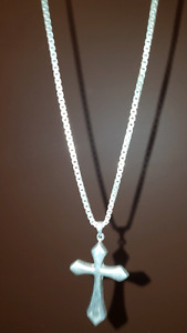 Pure Silver 925 chain and cross pendant