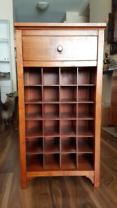 Solid wood wine cabinet $60