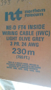 24 AWG Inside Wiring Cable and 3 jacks