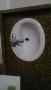 Selling cheap new countertop with 2 sinks