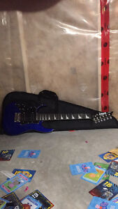 Kids left handed electric guitar and amp