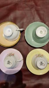 Bone China Tea Sets - Lot of 13.