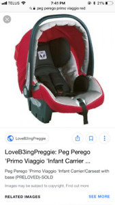 Selling Peg Perego BRAND new car seat