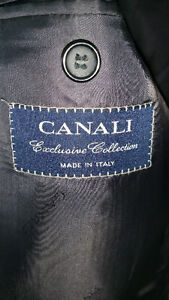 Canali Mens Designer Made in Italy Suit Super 150s Virgin wool L