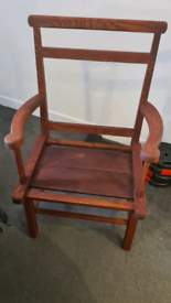 Antique hardwood chair