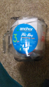 3 pc Fire King measuring cups new