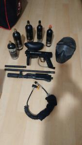 paintball gun and equipment