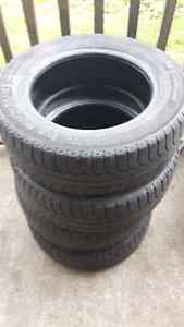 Set of four 195/65r15 michellin winter tires for sale.