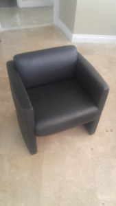 Black Leather Condo size Chair