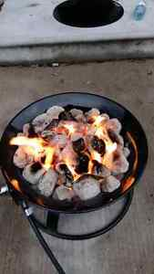 Propane powered fire pit