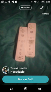 Two wii remotes