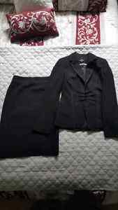 Le Chateau - black blazer and matching pencil skirt