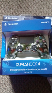 Ps4 camo controller with led bar on touch pad